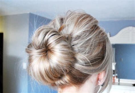 chigon blonde highlights sock bun chignon bun updo blonde lowlights