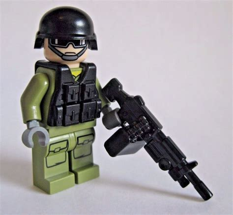 Asmbricks Lego Minifigure Torso 49 lego custom support gunner modern combat minifigure brickarms m249 army ebay