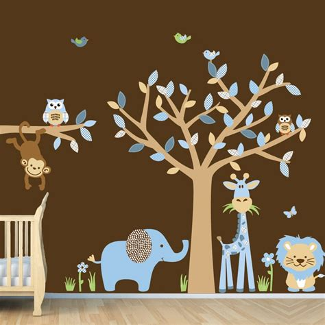 wall stickers baby boy repositionable baby boy room jungle wall decals boy room wall decals