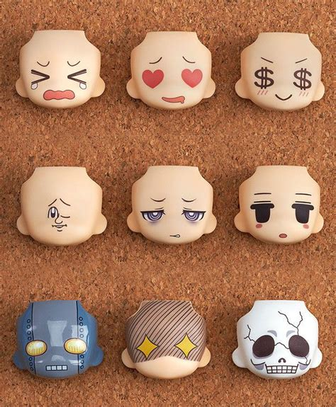 Nendoroid Faceplate 491 Set nendoroid more complete set of 9 anime figure smile company japan swaps