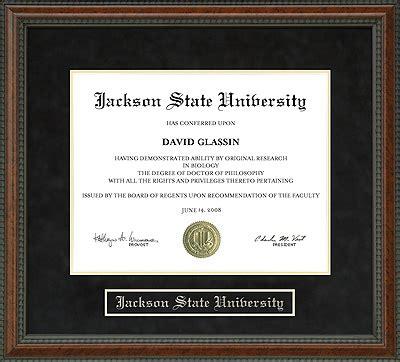 jackson state university (jsu) diploma frame: everything