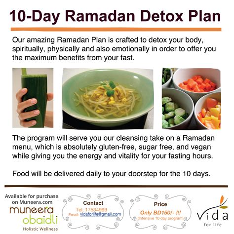 10 Day Vegan Detox Diet by 10 Day Ramadan Detox Menu Muneera Obaidli