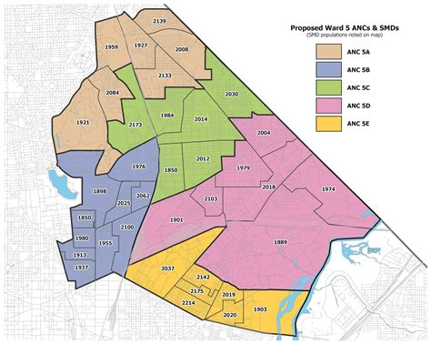 washington dc map of wards the district curmudgeon updated ward 5 redistricting map