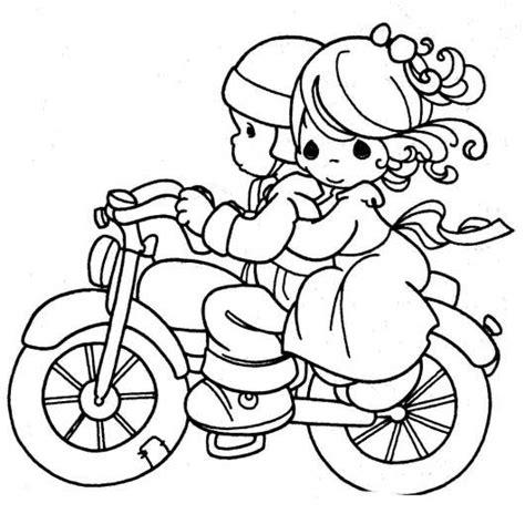 desenho de momentos preciosos moto  colorir
