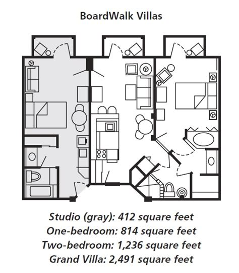 boardwalk villas one bedroom floor plan disney s boardwalk villas