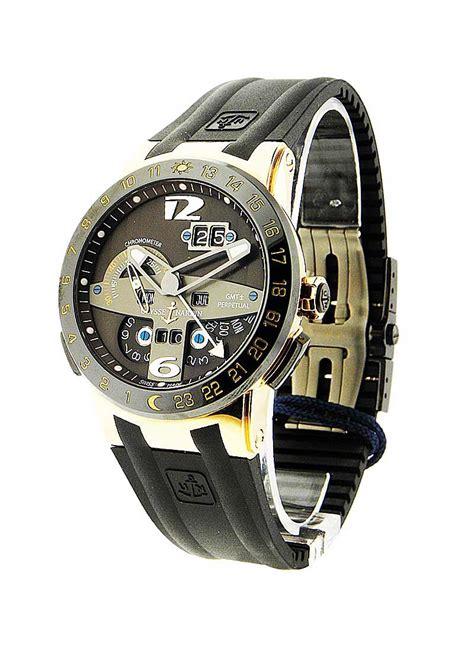 Ulysse Nardin Black Toro Perpetuel Calender Gmt 322 00 3 ulysse nardin el toro gold essential watches