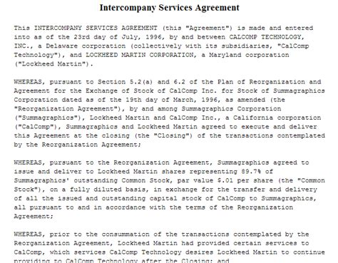 shared service agreement template 95 best agreement templates sle templates