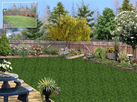 backyard landscaping plans landscape design software gallery