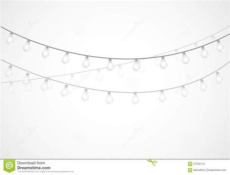string of white lights string of lights hanging light bulbs stock illustration