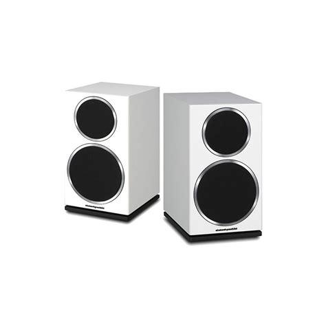 wharfedale diamond  white bookshelf speakers pair