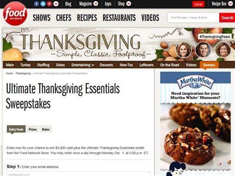 Food Sweepstakes - food network ultimate thanksgiving essentials sweepstakes sweepstakes fanatics