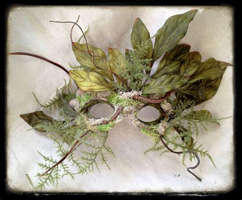 Masker Nature green wearable wall decor nature spirit mask