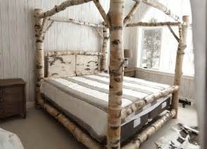 Wood Canopy Bed Frame Furniture Carved White Wooden Canopy Bed Frame With Headboard And Brown Pillows Combined By