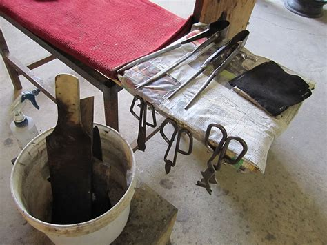 glass blowing bench glass blowing bench with tools playing with fire