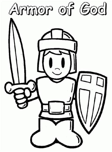 free coloring pages for armor of god az coloring pages