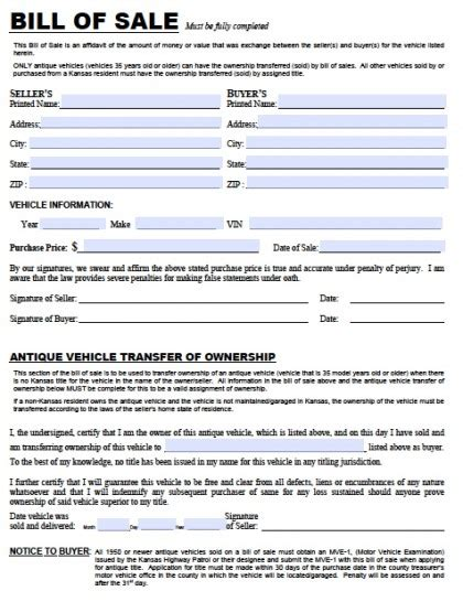 Bill Of Sale Pdf Real Estate Forms Auto Bill Of Sale Oklahoma Template