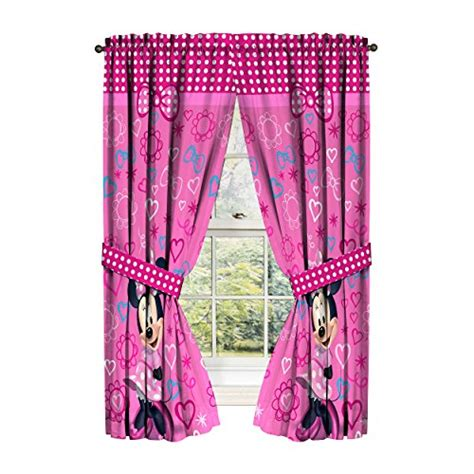 pink minnie mouse curtains disney minnie mouse window panels curtains drapes pink