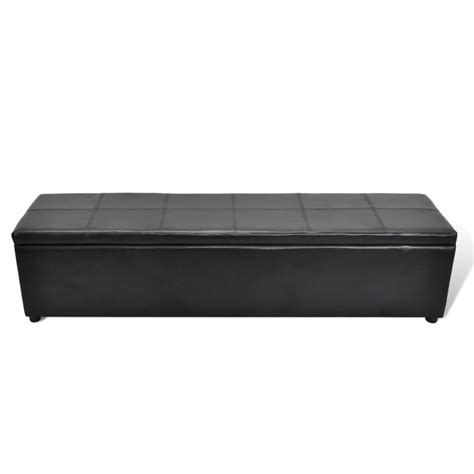 Large Storage Bench by Black Storage Bench Large Size Vidaxl