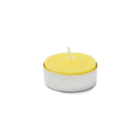 zest candle 1 5 in yellow citronella tealight candles 100 box ctz 009 the home depot