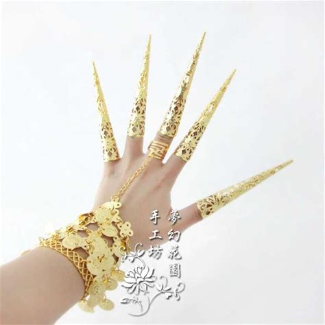 Finger Set finger set indian accessories ring bracelet