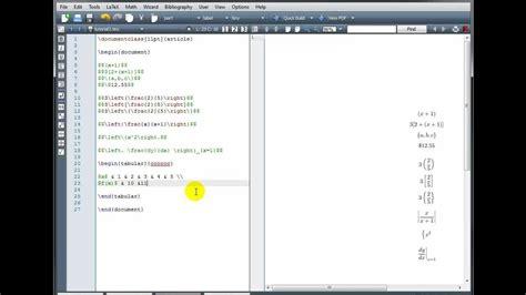 latex tutorial interactive latex tutorial 3 brackets tables arrays part 2 2