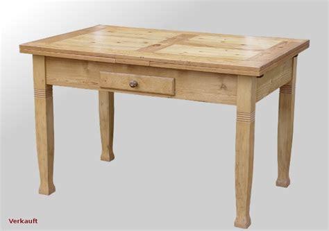 weichholz tisch tisch weichholz jugendstil ausziehbar mit schublade