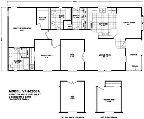 cavco floor plans floor plan vph 2846a value porch homes durango homes built by cavco manufactured home