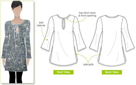 free pattern tunic dress stylearc michelle tunic