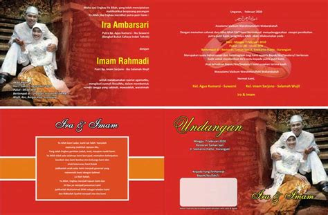 template undangan coreldraw template desain undangan pernikahan ultah khitanan