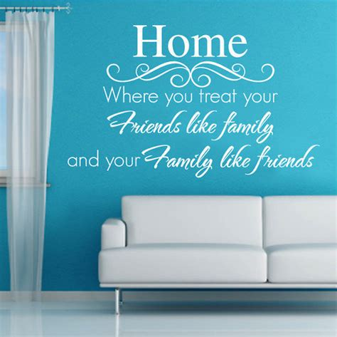 Living Room Word Wall Home Poet Word Words Decals Wall Sticker Vinyl