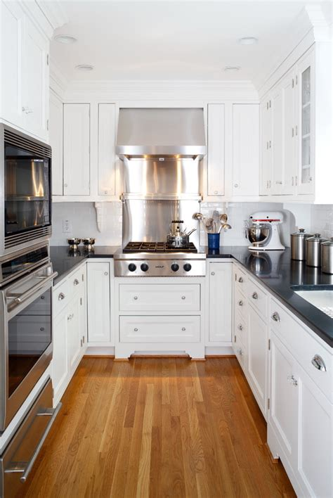 small kitchen remodel photos Kitchen Traditional with crown molding enclosed kitchen