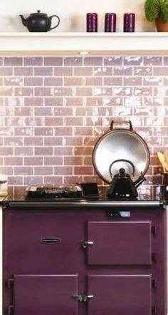 purple kitchen backsplash aga tiles company and aga stove on pinterest
