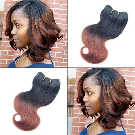 hair extensions for bob haircut 6pcs 300g brazilian ombre short hair extensions 8inch 1b