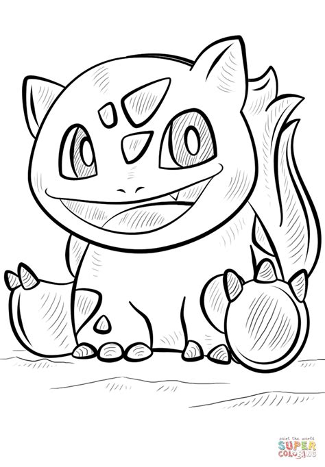 bulbasaur coloring coloring coloring pages