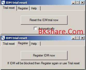 trial reset tool idm idm trial reset phần mềm reset hạn sử dụng của internet