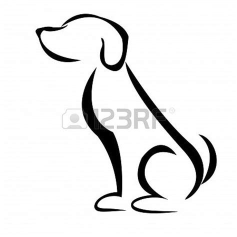 dog silhouette tattoo best 25 silhouette ideas on outline
