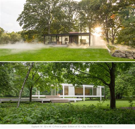 side by side house exhibition side by side philip johnson s glass house and mies van der rohe s