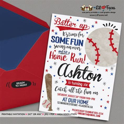 25 best ideas about baseball party invitations on