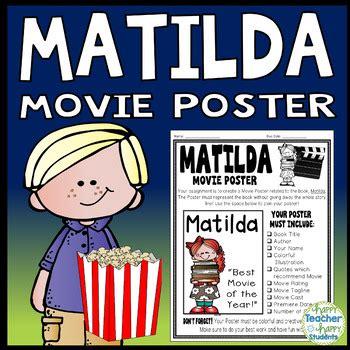 book report on matilda matilda project create a poster matilda book