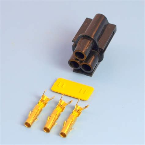 3 way black receptacle housing kit