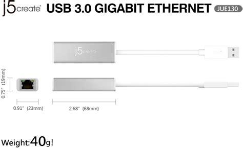 Usb 3 0 Gigabit Ethernet Adapter Jue130 J5create j5create jue130 usb 3 0 gigabit ethernet adapter computer alliance
