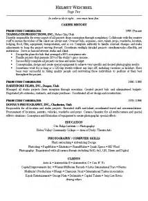 Production Manager Sle Resume production coordinator resume exle