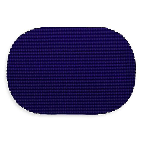 Oblong Nevy buy kraftware fishnet oval placemats in navy set of 12 from bed bath beyond