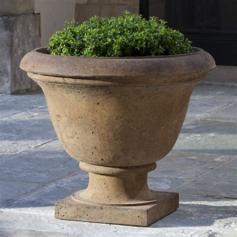 Traditional Planters by Cania International Rustic Greenwich Cast Urn