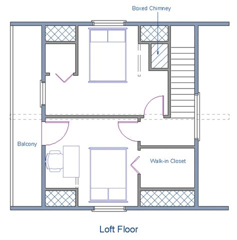 cabin floor plans with loft floor plan 24x20 sqft cottage b