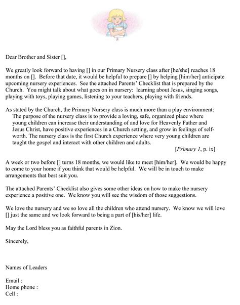 Parent Letter Doc August 2015 The Mormon Home