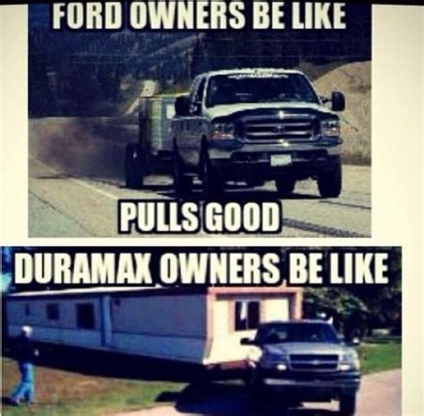powerstroke jokes chevy love hate fords cars