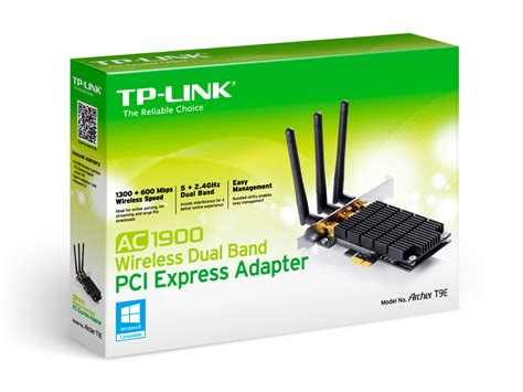 Wireless Pci Card Tp Link tp link ac1900 dual band wireless pci express adapter 5ghz 1300mbps 2 4ghz 600mbps