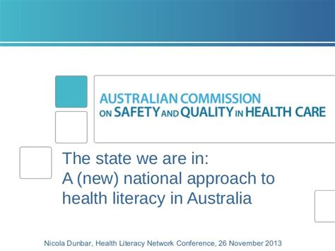 new media health literacy opportunities the state we are in a new national approach to health