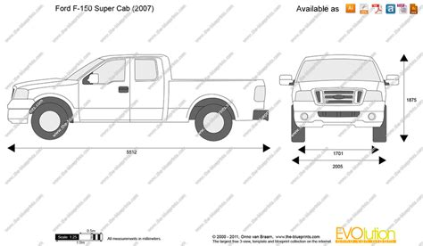F Drawing Size by Ford F 150 Cab Vector Drawing